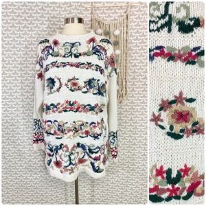 Vintage 1994 Heirloom Collectibles Floral Sweater